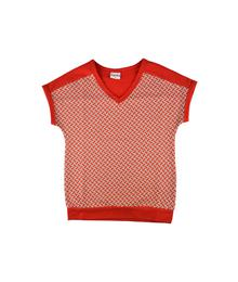 Baba Babywear V-neck t-shirt Red Bricks S19 Jacquard