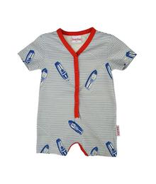 Baba babywear V-neck summersuit boat S19 jersey single lycra screenprint