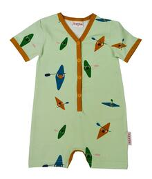 Baba babywear SS21 V-neck summersuit/Jersey single lycra digital print/Kayak river