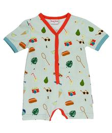 Baba babywear V-neck summersuit Picnic S20 Jersey single lycra AOP