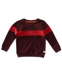 Little Label Sweater contrast -dark red W19.304.695 87200393550