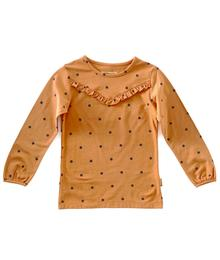 Little Label Fancy tee - pumpkin blue dots W193181.713 87200393515