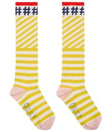 Oilily Mop knee socks 81 yellow white stripe #hashtag YS19GTI209