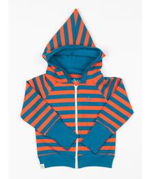 Alba of Denmark ALLTIME ZIPPER HOOD - SPICY ORANGE MAGIC STRIPES SKU: 2719
