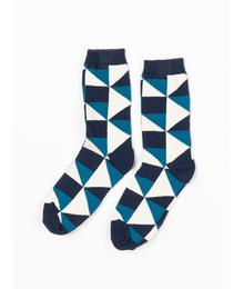Alba of Denmark Kristian Socks Seaport It's all about squares 2566 584