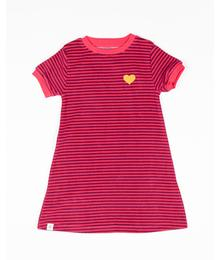Alba of  Denmark Vida Dress Raspberry Magic Stripes 2x2 Rib 2644