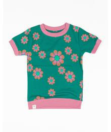 Alba of Denmark Vesta T-shirt  Alpine Green Flower Power 2645 - 631